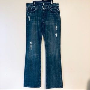 7 Seven For All Mankind Distressed Blue Jeans 30